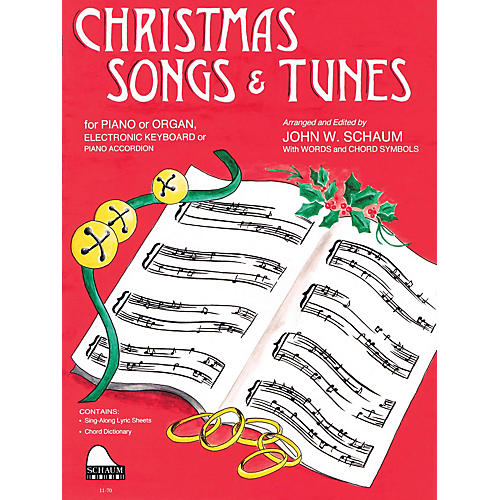 SCHAUM Christmas Songs and Tunes (Level 4 Inter Level) Educational Piano Book