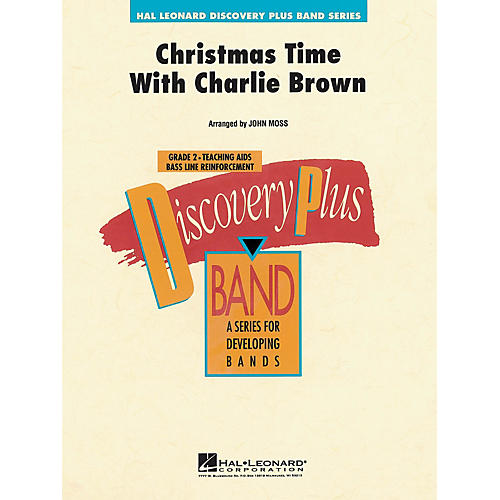 Hal Leonard Christmas Time with Charlie Brown - Discovery Plus Concert Band Series Level 2 arranged by John Moss
