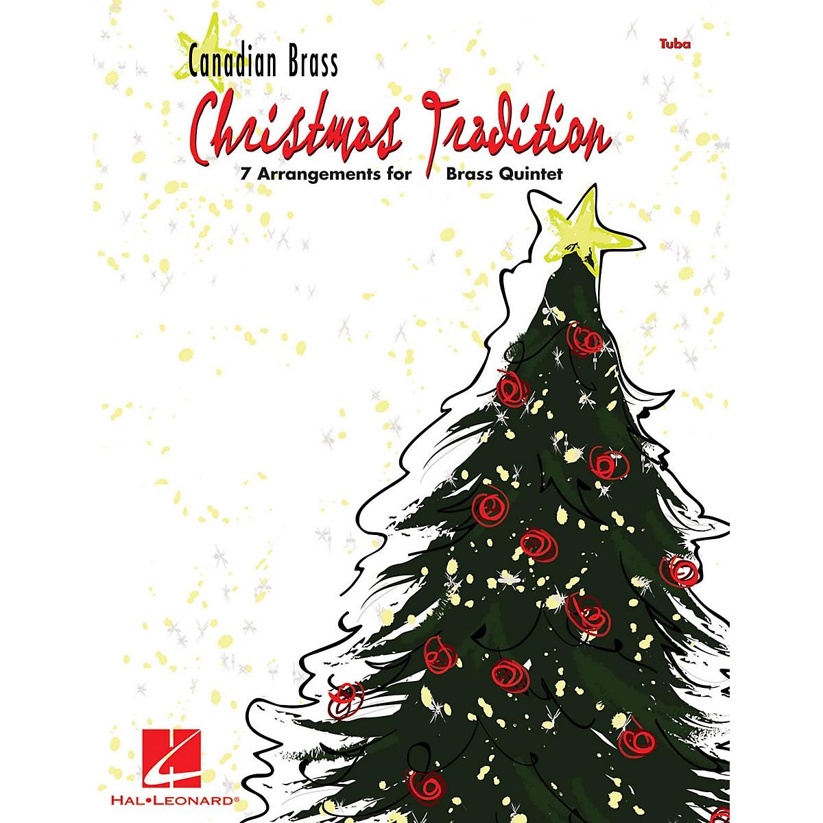 Hal Leonard Christmas Tradition (7 Arrangements for Brass Quintet - Tuba (B.C.)) Brass Ensemble Series by Various