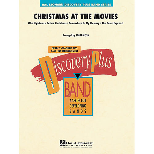 Hal Leonard Christmas at the Movies - Discovery Plus Concert Band Series Level 2 arranged by John Moss