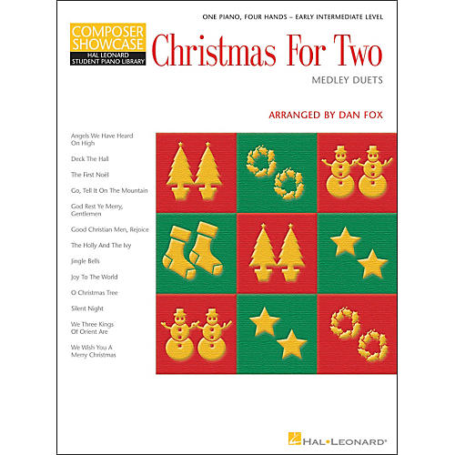 Hal Leonard Christmas for Two Medley Duets Easy Piano