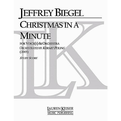 Lauren Keiser Music Publishing Christmas in a Minute (Soloist and Orchestra) LKM Music Series Composed by Jeffrey Biegel