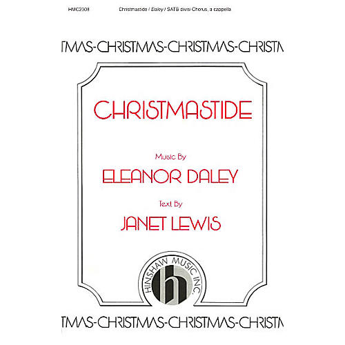Hinshaw Music Christmastide SSAATTBB composed by Eleanor Daley