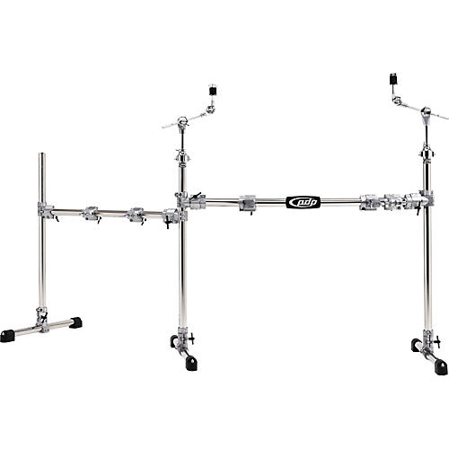 PDP by DW Chrome Plated Main and Side Drum Rack Package