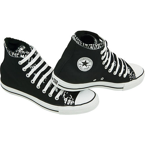 Chuck Upper All Star High Live Fast Taylor Converse Double Top Shoes N0v8mnw