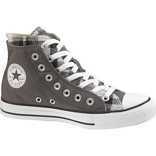 fbaff18fcaf64d Converse Chuck Taylor All Star High Top Double Upper Plaid Shoes ...