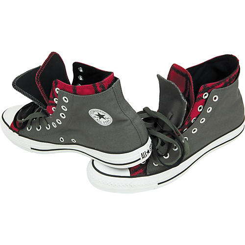 Converse Chuck Taylor Scribble Plaid Double Upper Hi Top Sneakers