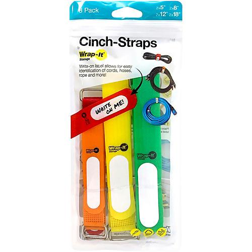 Wrap-It Storage Straps Cinch-Strap, 8-Pack, Assorted
