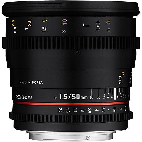 ROKINON Cine DS 50mm T1.5 Cine Lens for Canon EF