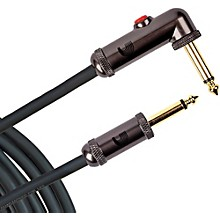 D'Addario Planet Waves Circuit Breaker Instrument Cable with Latching Cut-Off Switch, Right Angle Plug, by D'Addario