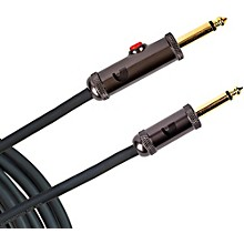 D'Addario Planet Waves Circuit Breaker Instrument Cable with Latching Cut-Off Switch, Straight Plug, by D'Addario 20 ft. Black