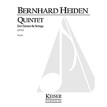 Lauren Keiser Music Publishing Clarinet Quintet LKM Music Series Composed by Bernhard Heiden