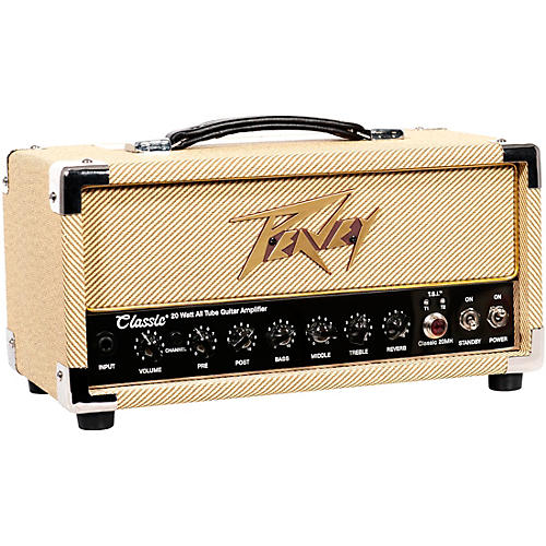 Peavey Classic 20 Micro 20W Tube Guitar Amp Head with 2x12 Guitar Speaker Cabinet