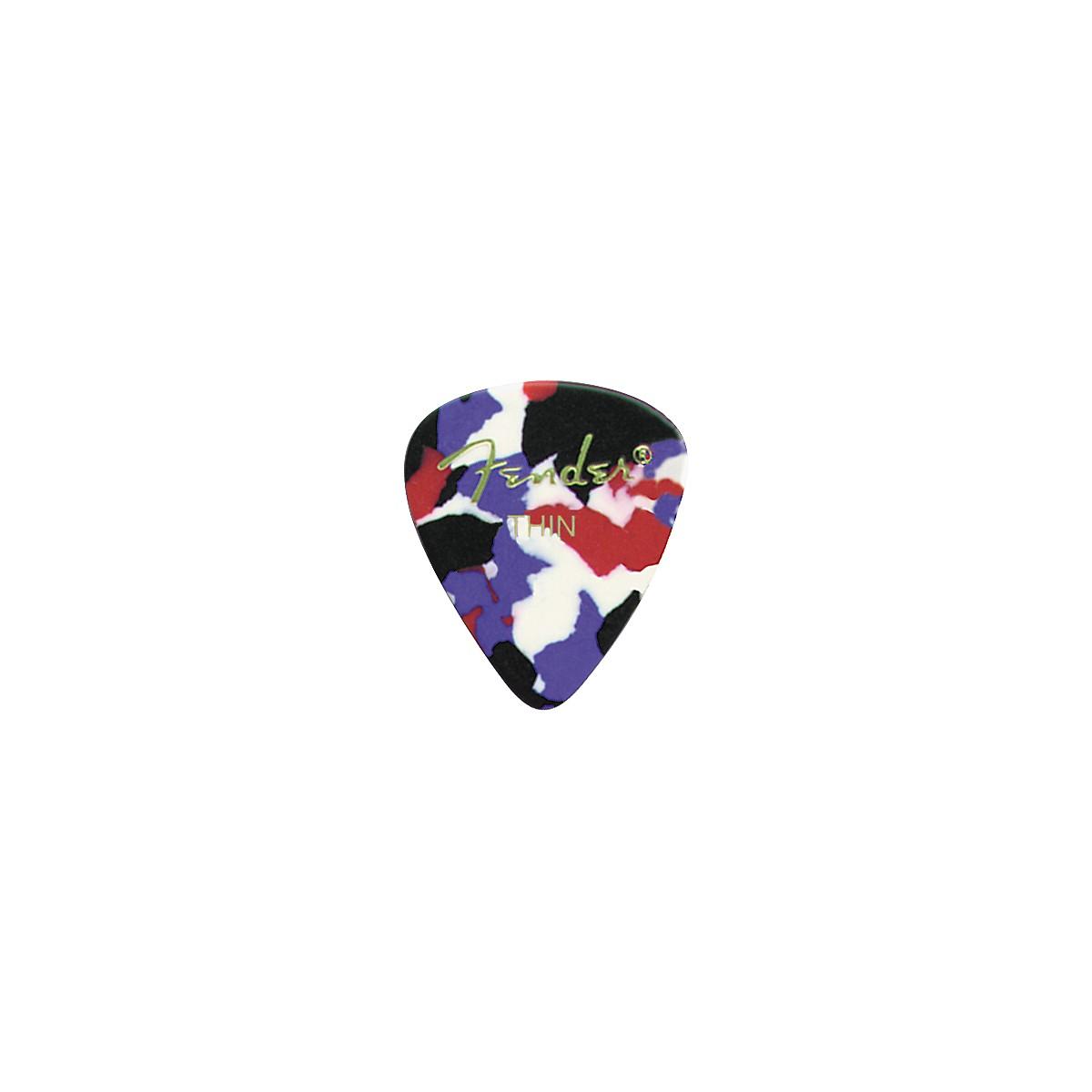 Fender Classic Celluloid Confetti Guitar Pick 12-Pack