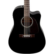 Classic Design Series CD-140SCE Cutaway Dreadnought Acoustic-Electric Guitar Black
