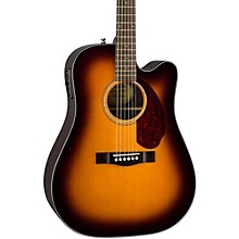 Classic Design Series CD-140SCE Cutaway Dreadnought Acoustic-Electric Guitar Sunburst