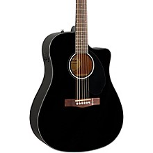 Classic Design Series CD-60SCE Cutaway Dreadnought Acoustic-Electric Guitar Black
