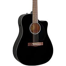 Classic Design Series CD-60SCE Cutaway Dreadnought Acoustic-Electric Guitar Level 2 Black 190839346667