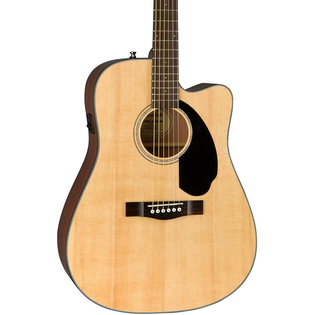 Fender Classic Design Series CD-60SCE Cutaway Dreadnought Acoustic-Electric Guitar