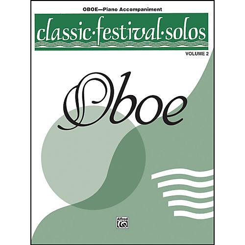 Alfred Classic Festival Solos for Oboe, Volume II Piano Acc. Book