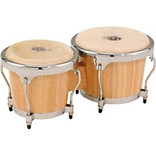 LP Classic II Bongos with Chrome Hardware Level 1 Natural
