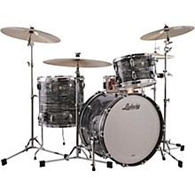 Ludwig Classic Maple 3-Piece Fab Shell Pack with 22 in. Bass Drum Level 1 Vintage Black Oyster Pearl