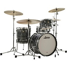 Classic Maple 3-Piece Jazzette Shell Pack with 18 in. Bass Drum Vintage Black Oyster Pearl