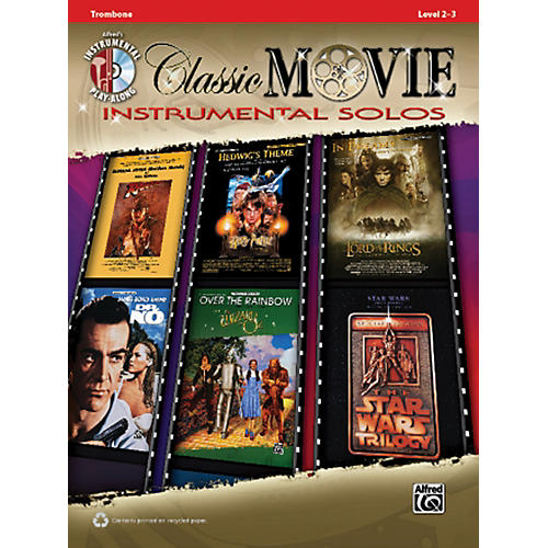 Alfred Classic Movie Instrumental Solos Trombone Play Along Book/CD