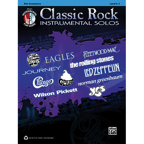 Alfred Classic Rock Instrumental Solos Alto Sax Book & CD