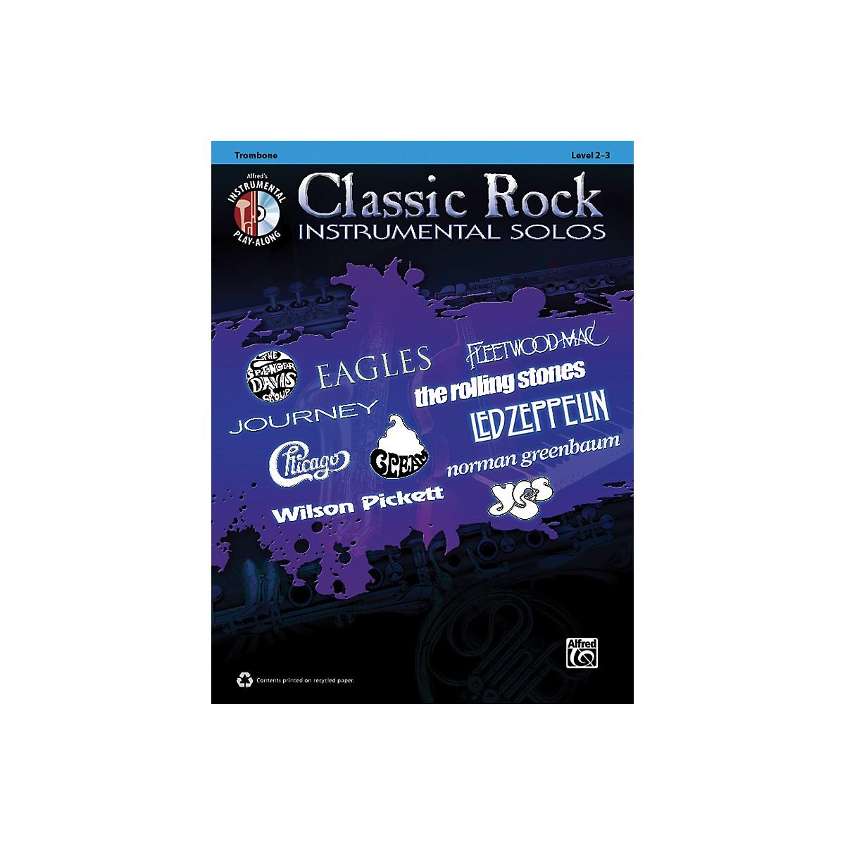 Alfred Classic Rock Instrumental Solos Trombone Book & CD