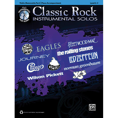 Alfred Classic Rock Instrumental Solos for Strings Violin Book & CD