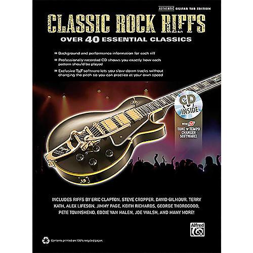 Alfred Classic Rock Riffs Guitar Book & CD