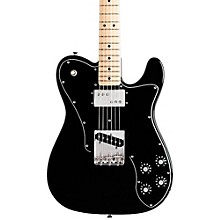 Classic Series '72 Telecaster Custom Electric Guitar Black Maple Fretboard