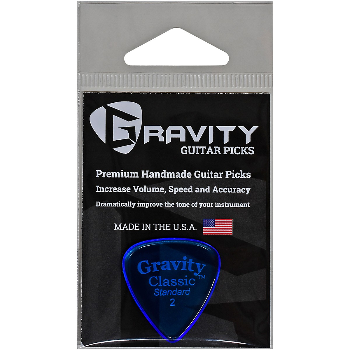 GRAVITY PICKS Classic Standard Polished Blue