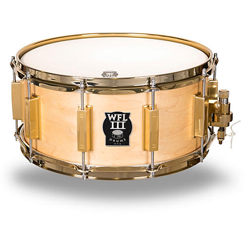 WFLIII Drums Classic Wood Maple Snare Drum with Gold Hardware