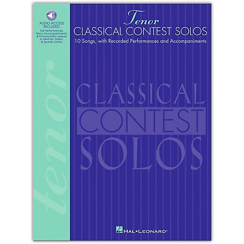 Hal Leonard Classical Contest Solos for Tenor Voice (Book/Online Audio)