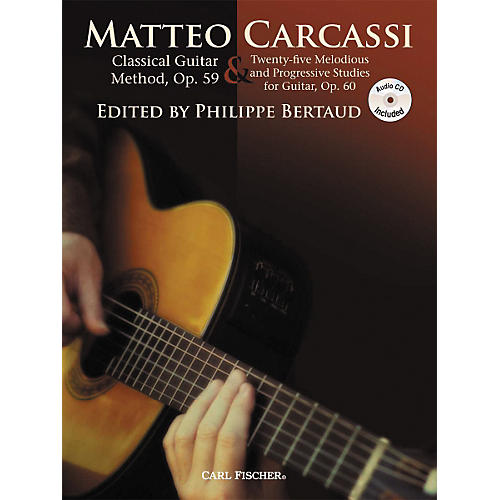 Carl Fischer Classical Guitar Method, Op. 59 & 25 Melodious & Progressive Studies Book/CD