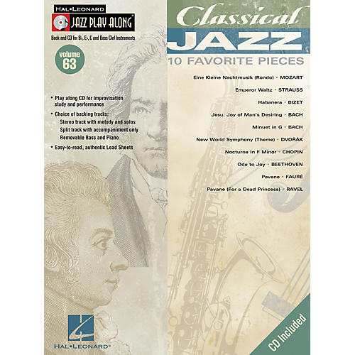 Hal Leonard Classical Jazz--Jazz Play Along Volume 63 Book with CD