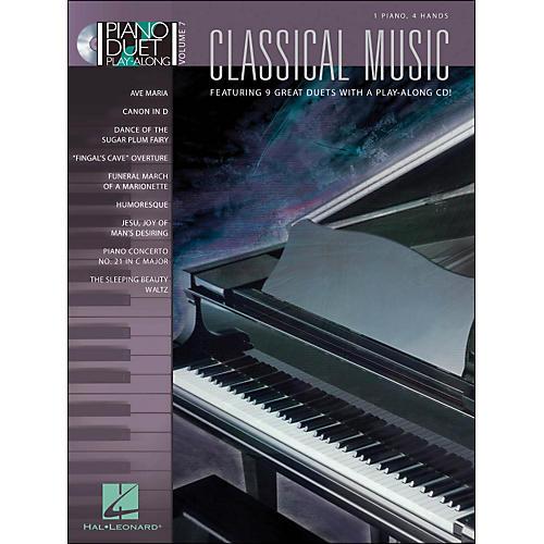 Hal Leonard Classical Music Duet Volume 7 Book/CD 1 Piano 4 Hands