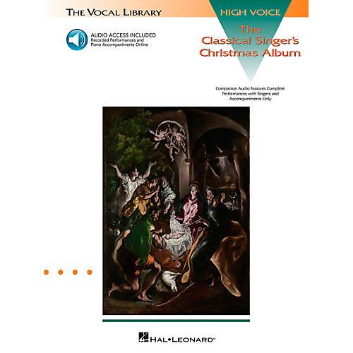 Hal Leonard Classical Singers Christmas Album for High Voice Book/CD Pkg