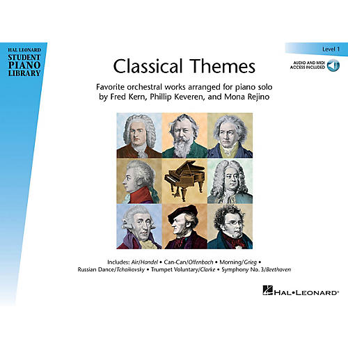 Hal Leonard Classical Themes - Level 1 Piano Library Series Book Audio Online