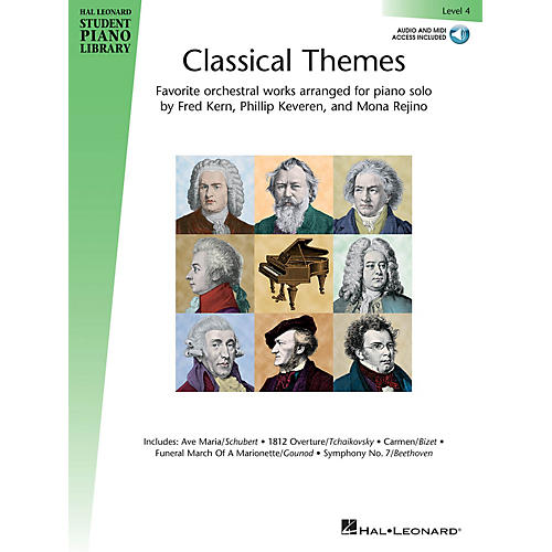 Hal Leonard Classical Themes - Level 4 Piano Library Series Book Audio Online