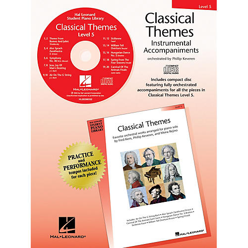 Hal Leonard Classical Themes - Level 5 (Hal Leonard Student Piano Library) Piano Library Series CD
