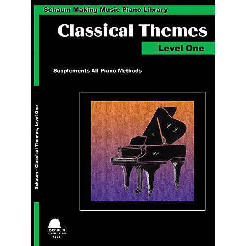 SCHAUM Classical Themes Level 1 (Schaum Making Music Piano Library) Educational Piano Book (Level Elem)