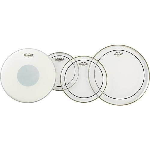 Remo Clear Pinstripe Pro Pack with Free 14