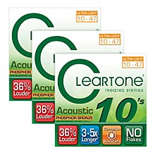 Cleartone Cleartone Coated Ultra Light Acoustic Guitar Strings Buy Two Get One Free