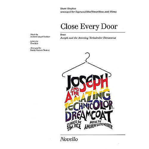 Novello Close Every Door (from Joseph and the Amazing Technicolor Dreamcoat) SATB by Barrie Carson Turner