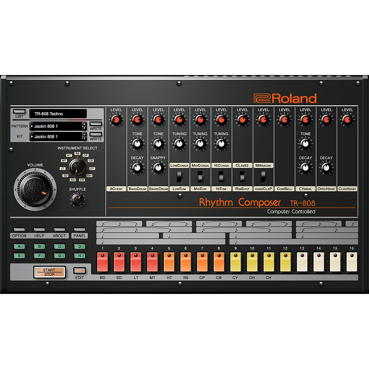 Roland Cloud Cloud TR-808 Software Synthesizer (Download)
