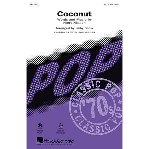 Hal Leonard Coconut (ShowTrax CD) ShowTrax CD Arranged by Kirby Shaw