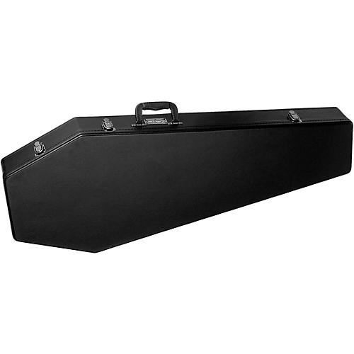 Coffin Case Coffin Guitar Case, Black Velvet Interior
